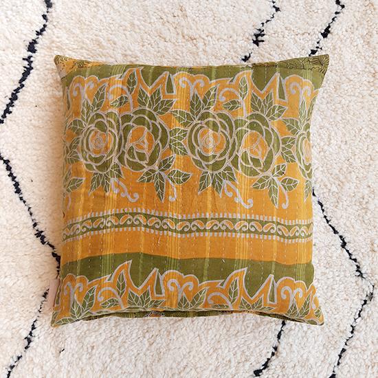 kantha cushion