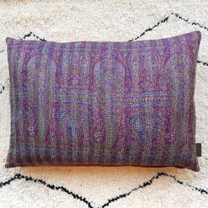 silk kantha cushion
