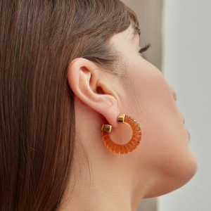 esme earrings amber